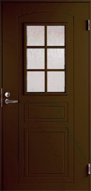 входная дверь коричневая