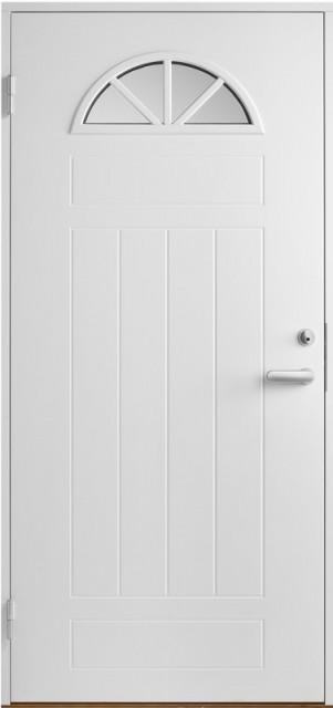 белые двери входные со стеклопакетом